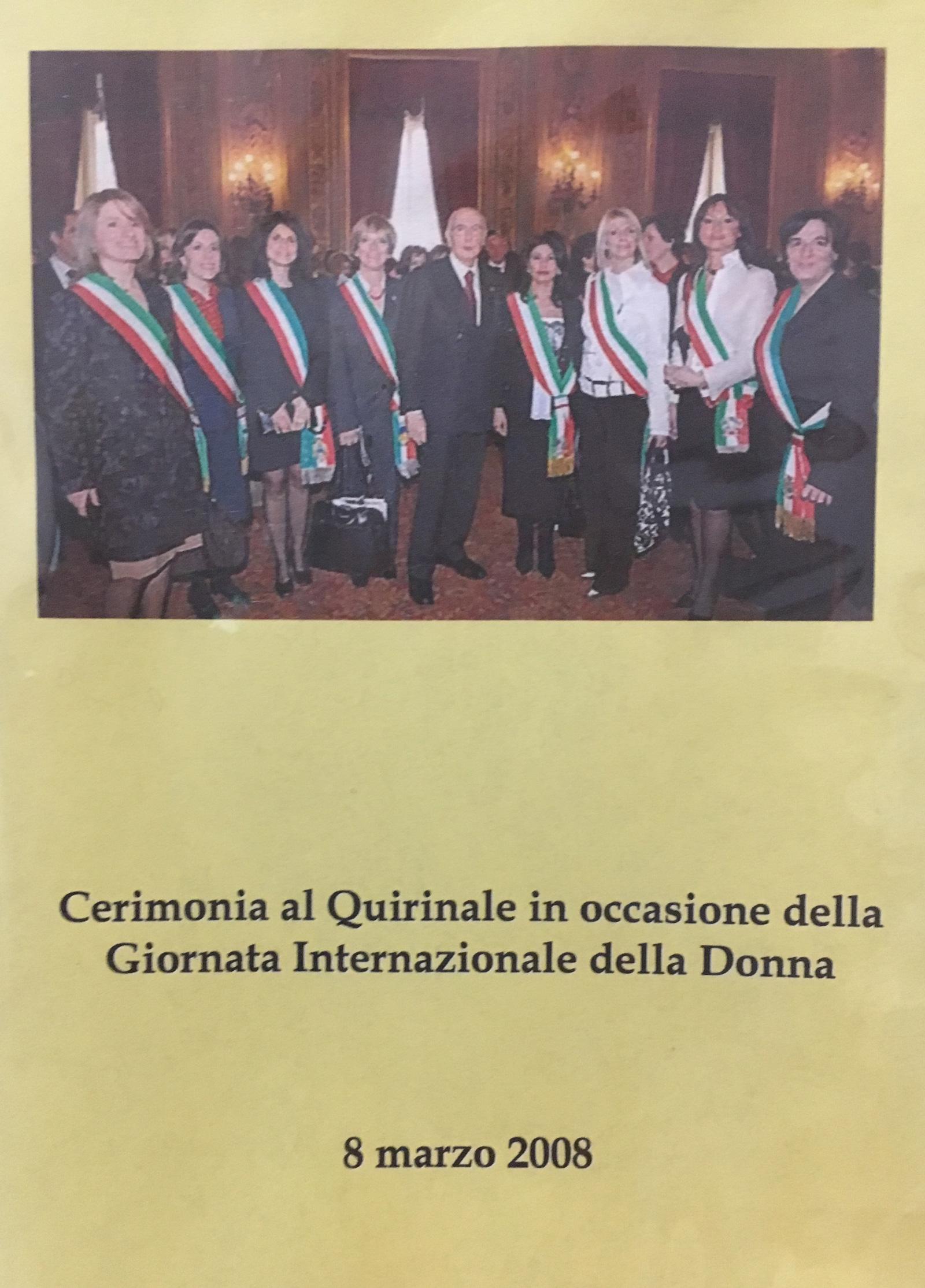 Celebrazione Internazionale della Festa della Donna al Quirinale