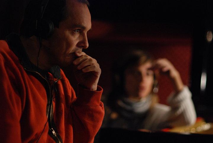 Col regista Massimo D'Orzi lavorando al film Samara 2