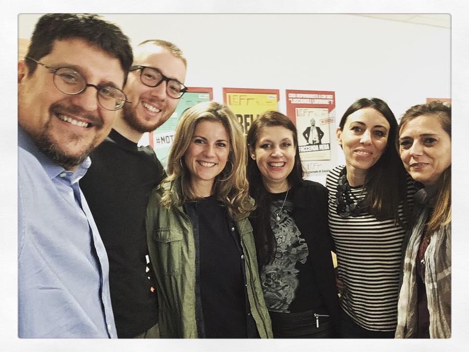 Con Luciano Vanni e la redazione di Left