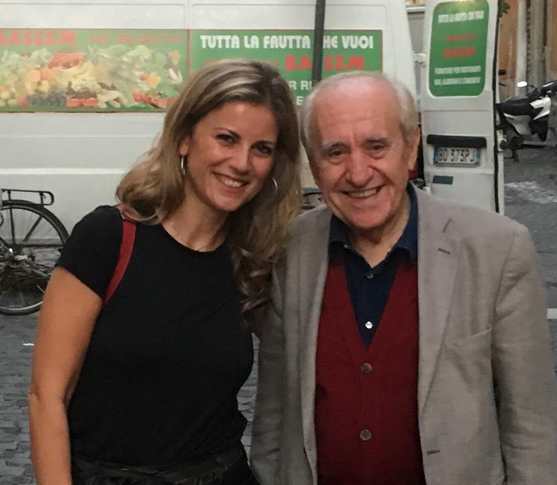 Con il grandissimo Adriano Mazzoletti